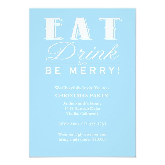 Eat Drink Be Merry Card