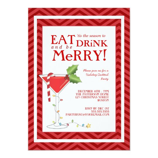 Eat Drink & be Merry Christmas Cocktail Party