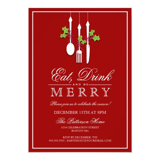 Eat Drink & Be Merry Christmas Holiday Party
