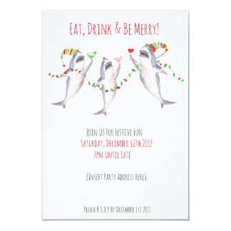 Eat, Drink & Be Merry! Christmas Party Invitation
