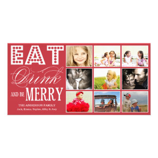 EAT, DRINK & BE MERRY | HOLIDAY COLLAGE CARD PICTURE CARD