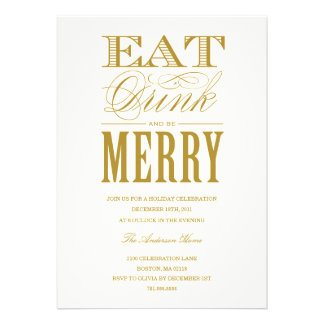 EAT, DRINK & BE MERRY | HOLIDAY PARTY INVITATION