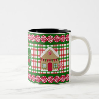 Eat, Drink & Be Merry Plaid Gingerbread Mug