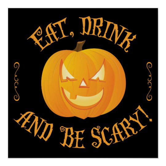 Eat Drink Be Scary Halloween Signs 24x24