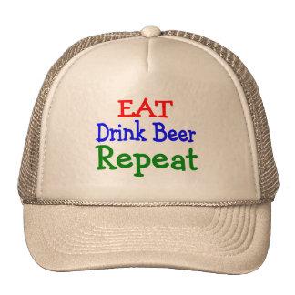 Eat Drink Beer Repeat Mesh Hats