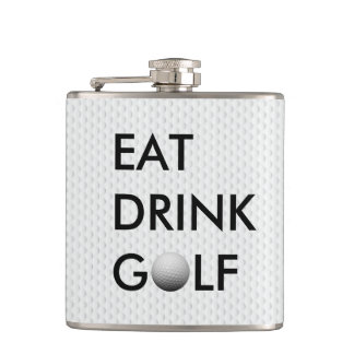Eat Drink Golf Flask