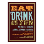 Eat, Drink & Have Fun at a Summer BBQ Party Invitation