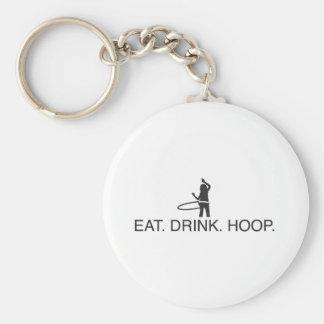 Eat. Drink. Hoop Key Ring