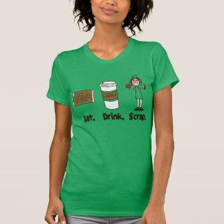 Eat! Drink! Scrap! on Kelly Green T-shirt