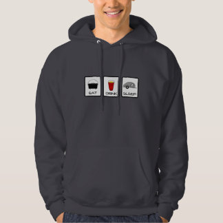 """Eat, Drink, Sleep"" Teardrop Camping Hoodie"