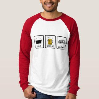"""Eat, Drink, Sleep"" Teardrop Camping T-Shirt"