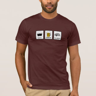 """Eat, Drink, Sleep"" Teardrop Camping T-Shirt"