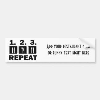 Eat Eat Eat and Repeat Bumper Sticker
