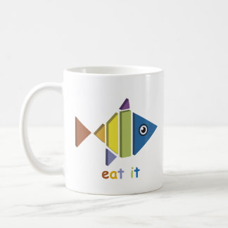 Eat fish coffee mug