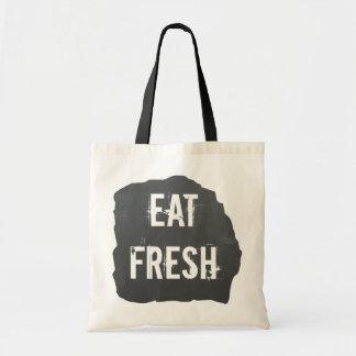 Eat Fresh Chalkboard Tote Bag