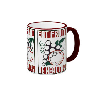 Eat Fruit - Be Healthy - WPA Poster - Coffee Mugs
