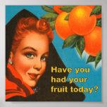 Eat Fruit Vintage Design