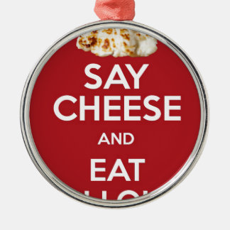 EAT HALLOUMI GREEK CHEESE CHRISTMAS ORNAMENT