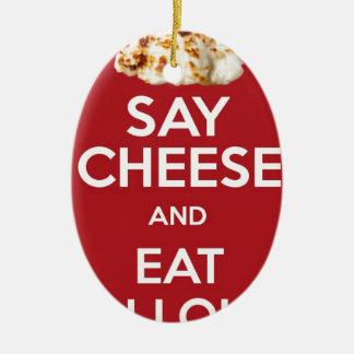 EAT HALLOUMI GREEK CHEESE CHRISTMAS ORNAMENT