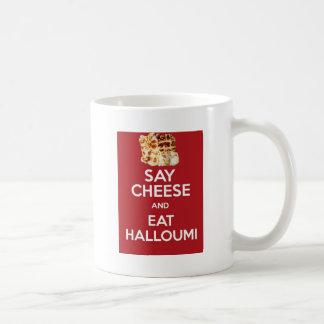 EAT HALLOUMI GREEK CHEESE COFFEE MUG