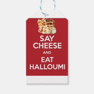 EAT HALLOUMI GREEK CHEESE GIFT TAGS