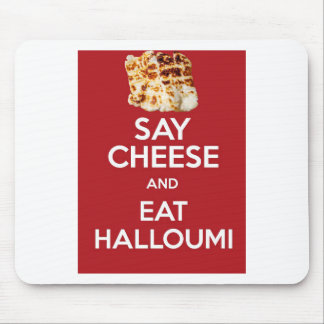 EAT HALLOUMI GREEK CHEESE MOUSE MAT