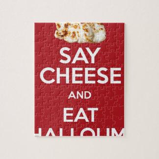 EAT HALLOUMI GREEK CHEESE PUZZLE