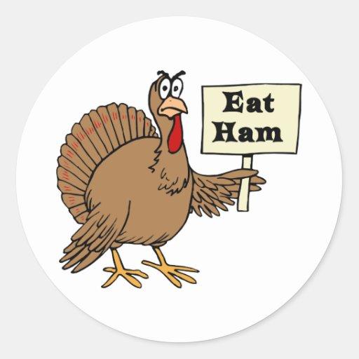 Eat Ham Classic Round Sticker