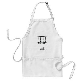 Eat | Hanging utensils design | Black Standard Apron