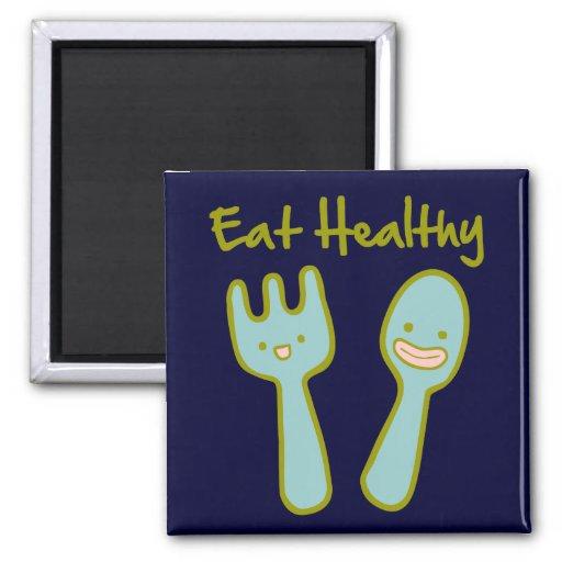 Eat Healthy Doodle Art Magnet