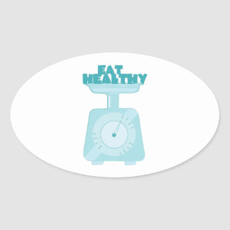 Eat Healthy Oval Stickers