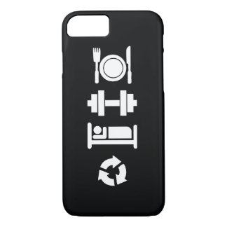 Eat, Lift, Sleep, Repeat iPhone 7 Case