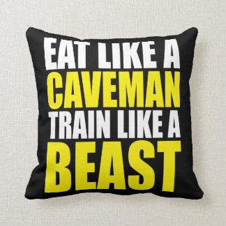 Eat Like A Caveman,  Train Like A Beast - Workout Cushion