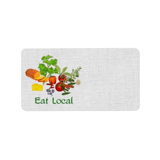 Eat Local Address Label