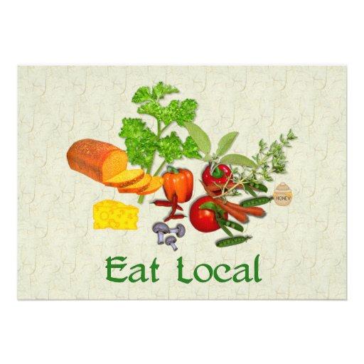 Eat Local Invite