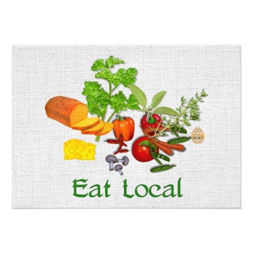 Eat Local Custom Invite