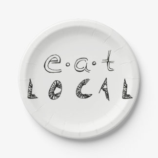 Eat Local Paper Plate