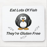 Eat Lots Of Fish, They're Gluten Free Mousemats