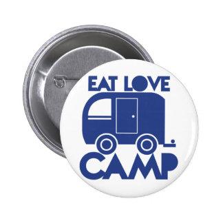 EAT LOVE CAMP 6 CM ROUND BADGE