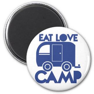 EAT LOVE CAMP MAGNET