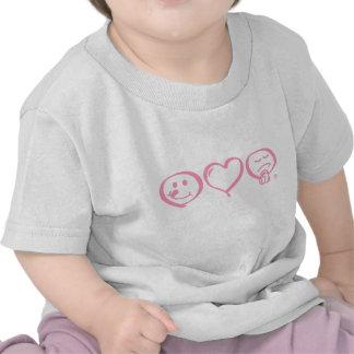 eat love pray symbol Infant T-shirt  (black logo)