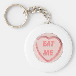 EAT ME BASIC ROUND BUTTON KEY RING