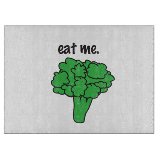 eat me. (broccoli) cutting boards