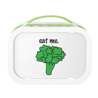 eat me. (broccoli) lunch boxes