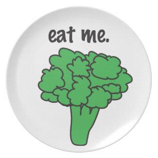 eat me. (broccoli) plate