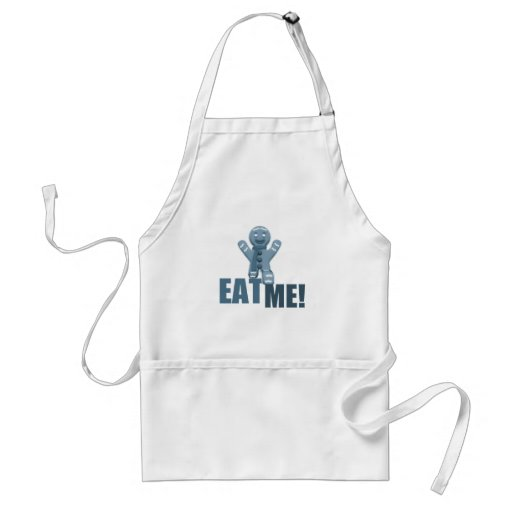 EAT ME! Gingerbread Man - Blue Aprons