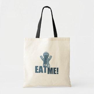 EAT ME Gingerbread Man - Blue Tote Bags