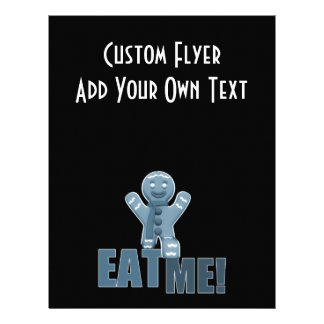 EAT ME! Gingerbread Man - Blue Personalized Flyer