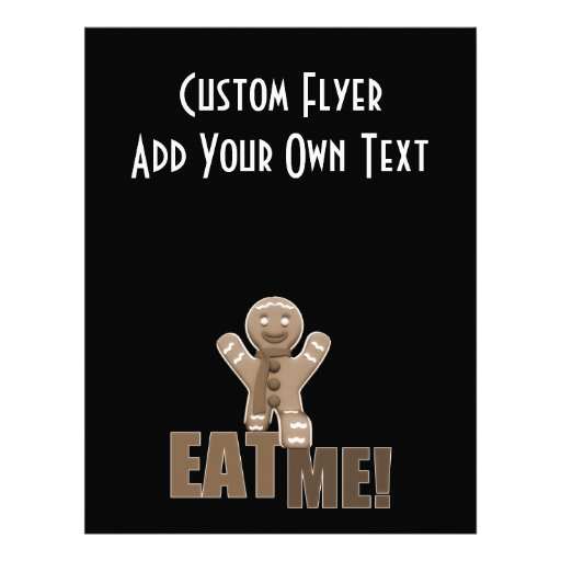 EAT ME! Gingerbread Man - Brown Sepia Flyers
