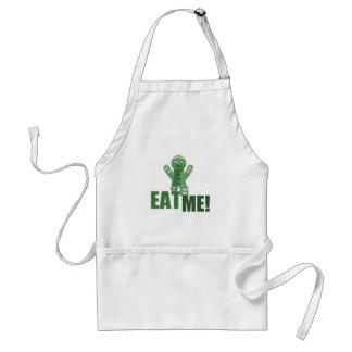 EAT ME! Gingerbread Man - Green Adult Apron
